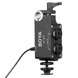 Boya Duo XLR Audio Adapter BY-MA2 voor DSLR en Camcorders